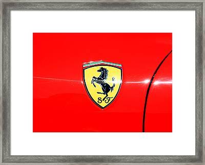 Ferrari Logo Framed Print by Valentino Visentini