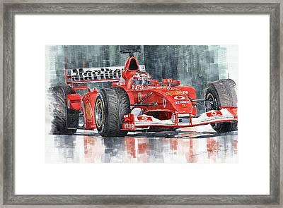 2002 Ferrari Marlboro F 2002 Ferrari 051 Rubens Borrichello Framed Print by Yuriy  Shevchuk