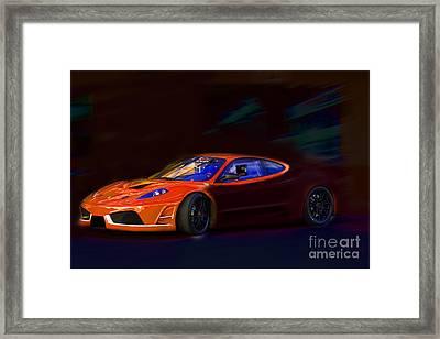 Framed Print featuring the photograph Ferrari Shadow by Gunter Nezhoda