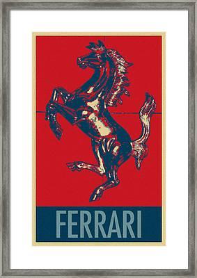 Ferrari Stallion In Hope Framed Print