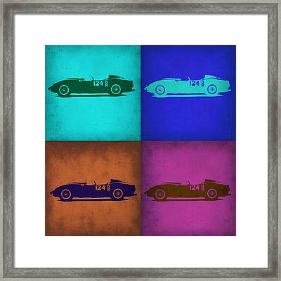 Ferrari Testa Rossa Pop Art 1 Framed Print by Naxart Studio