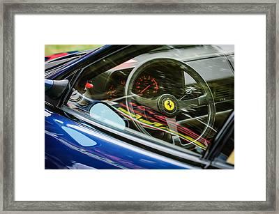 Ferrari Testa Rossa Tr Steering Wheel Emblem -0376c Framed Print