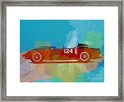 Ferrari Testa Rossa Watercolor 1 Framed Print by Naxart Studio