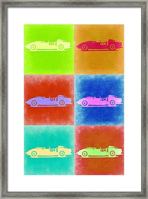 Ferrari Testarossa Pop Art 2 Framed Print by Naxart Studio