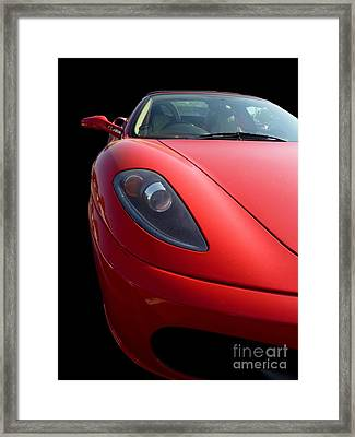 Framed Print featuring the photograph Ferrari by Vicki Spindler
