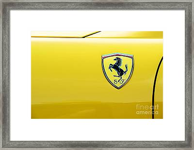 Ferrari Yellow Framed Print by Tim Gainey