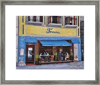 Ferreira Cafe  Framed Print by Reb Frost