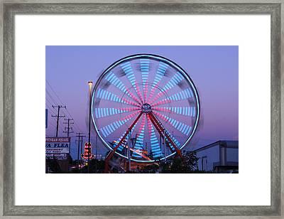 Ferris At Dusk Framed Print