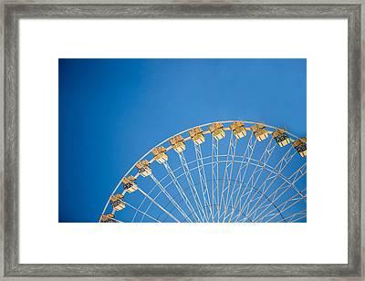 Ferris Wheel 3 Framed Print by Rebecca Cozart