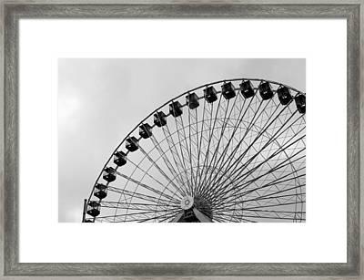 Ferris Wheel Framed Print by A K Dayton