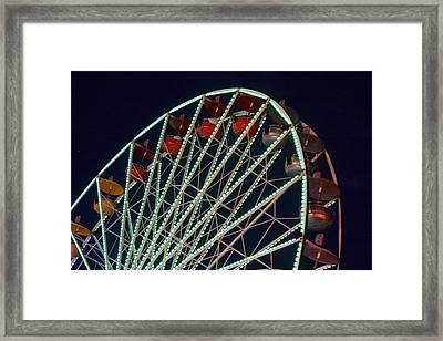 Ferris Wheel After Dark Framed Print