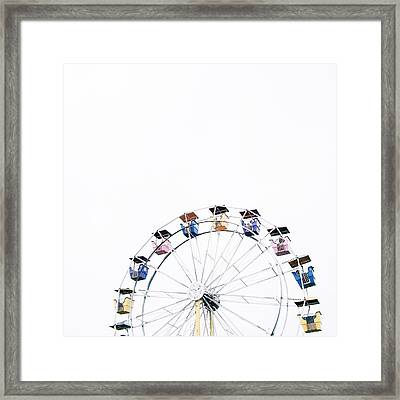 Ferris Wheel Against Clear Sky Framed Print by Avneet Kaur / Eyeem