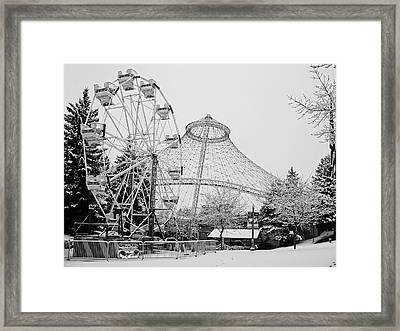 Ferris Wheel And R F P Pavilion - Spokane Washington Framed Print