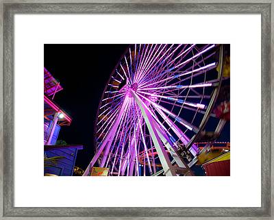 Ferris Wheel Framed Print by April Reppucci