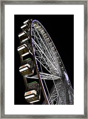Ferris Wheel At Night Framed Print