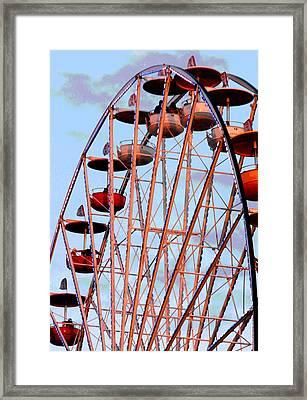 Ferris Wheel At Sunset Framed Print by Joe Kozlowski