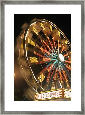 Ferris Wheel Framed Print by Brandon Tabiolo