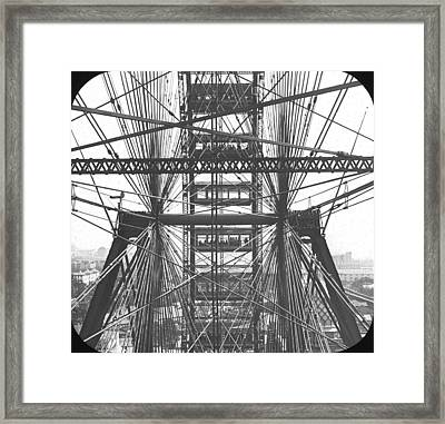 Ferris Wheel Close Up At Chicago Worlds Fair Columbian Exposition Framed Print by Historic Photos