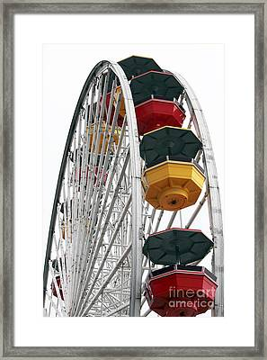 Ferris Wheel Colors Framed Print by John Rizzuto