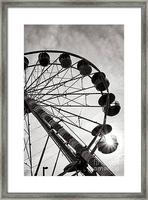 Ferris Wheeler Day Off Framed Print by Olivier Le Queinec