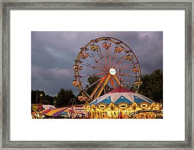 Ferris Wheel Fairground Ride Framed Print