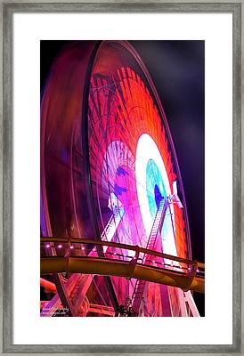 Ferris Wheel Framed Print by Gandz Photography