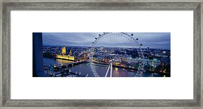 Ferris Wheel In A City, Millennium Framed Print