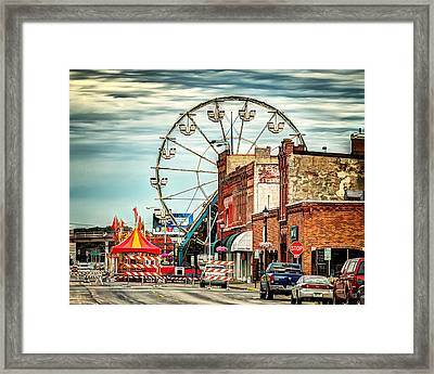 Ferris Wheel In Winona Framed Print