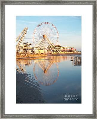 Ferris Wheel Jersey Shore 2 Framed Print