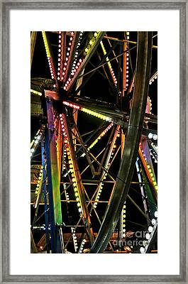 Framed Print featuring the photograph Lit Ferris Wheel  by Lilliana Mendez
