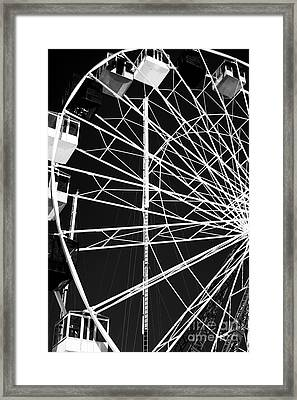 Ferris Wheel Lines Framed Print by John Rizzuto