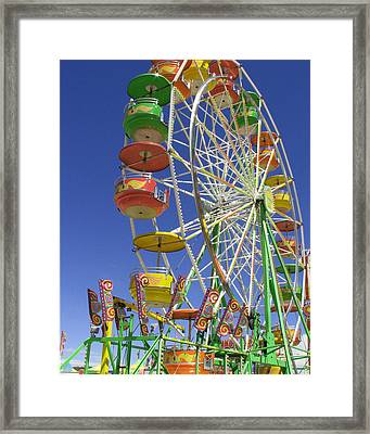 Framed Print featuring the photograph Ferris Wheel by Marcia Socolik
