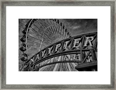 Ferris Wheel Navy Pier Framed Print