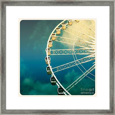 Ferris Wheel Old Photo Framed Print by Jane Rix