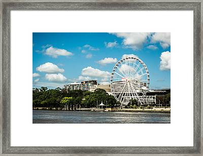 Ferris Wheel On The Brisbane River Framed Print