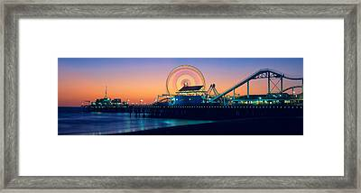 Ferris Wheel On The Pier, Santa Monica Framed Print by Panoramic Images