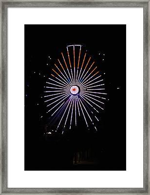 Ferris Wheel Santa Framed Print