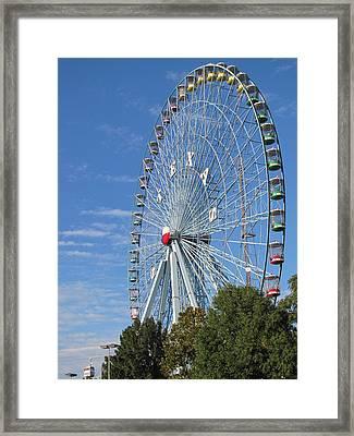 Ferris Wheel State Fair Of Texas Framed Print