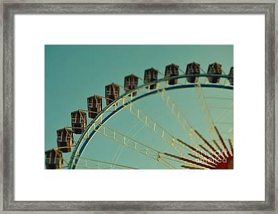 Ferris Wheel Tilt Shift Octoberfest In Munich Framed Print