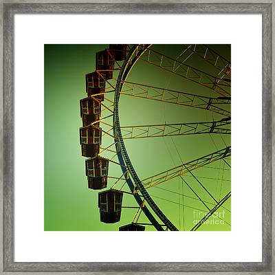 Ferris Wheel Vintage At The Octoberfest In Munich Framed Print
