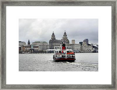 Ferry Across The Mersey Framed Print by Anthony Beyga