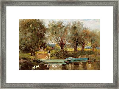 Ferry At Clifton Framed Print
