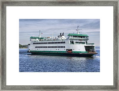 Ferry Boat Chetzemoka  Framed Print by Bob Noble Photography