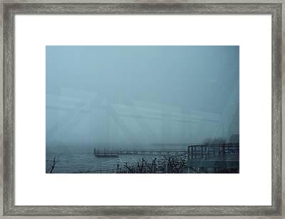 Ferry Framed Print by Cynthia Harvey