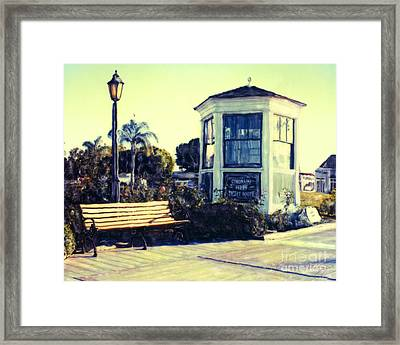 Ferry Landing Afternoon Framed Print