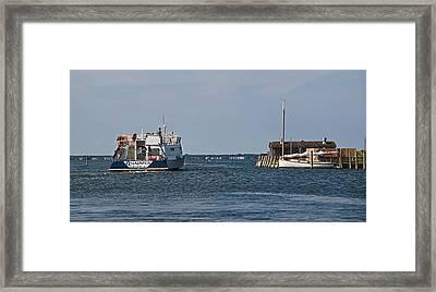 Ferry Leaves Watch Hill Framed Print by Alida Thorpe