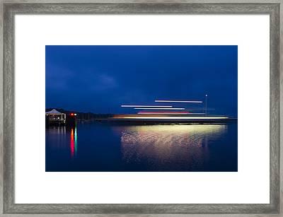 Ferry Light Framed Print