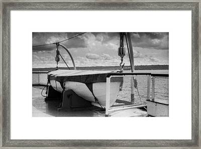 Ferry Nisqually Lifeboat Framed Print