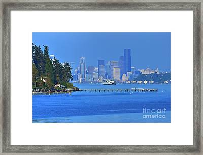 Ferry Ride In Seattle Framed Print