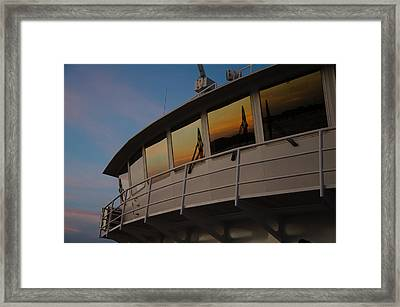 Ferry Sunset Framed Print